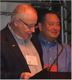 Terry Song (right), Larry Stevens